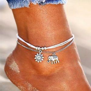 ⚜️[𝟯/$𝟮𝟴]⚜️3 Layered Elephant Sun Anklet NEW